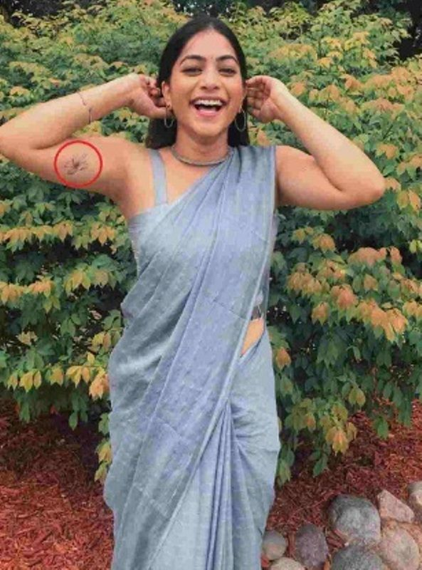 Punarnavi Bhupalam Tatoo On Her Bicep