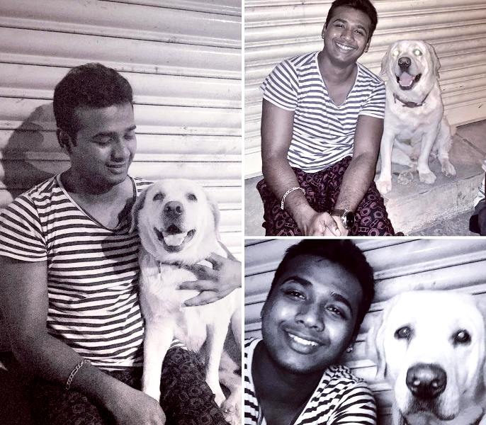 Rahul Sipligunj With His Pet Dog Buddy
