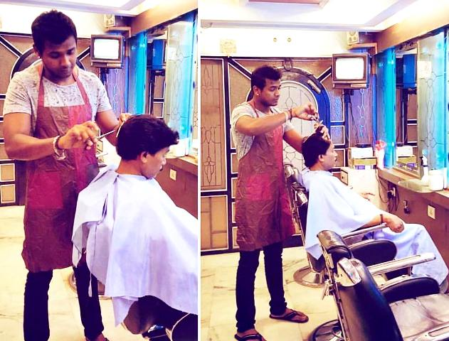 Rahul Sipligunj Working In His Father's Hair Salon