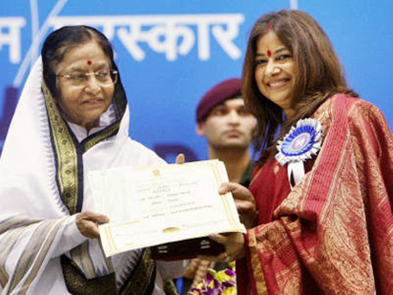 Rekha Bhardwaj Receiving Her National Award