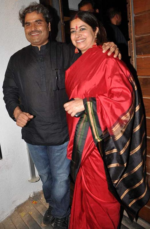 Rekha Bhardwaj With Her Husband Vishal Bharadwaj