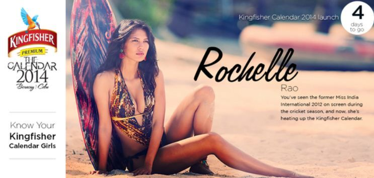 Rochelle Rao on Kingfisher calendar
