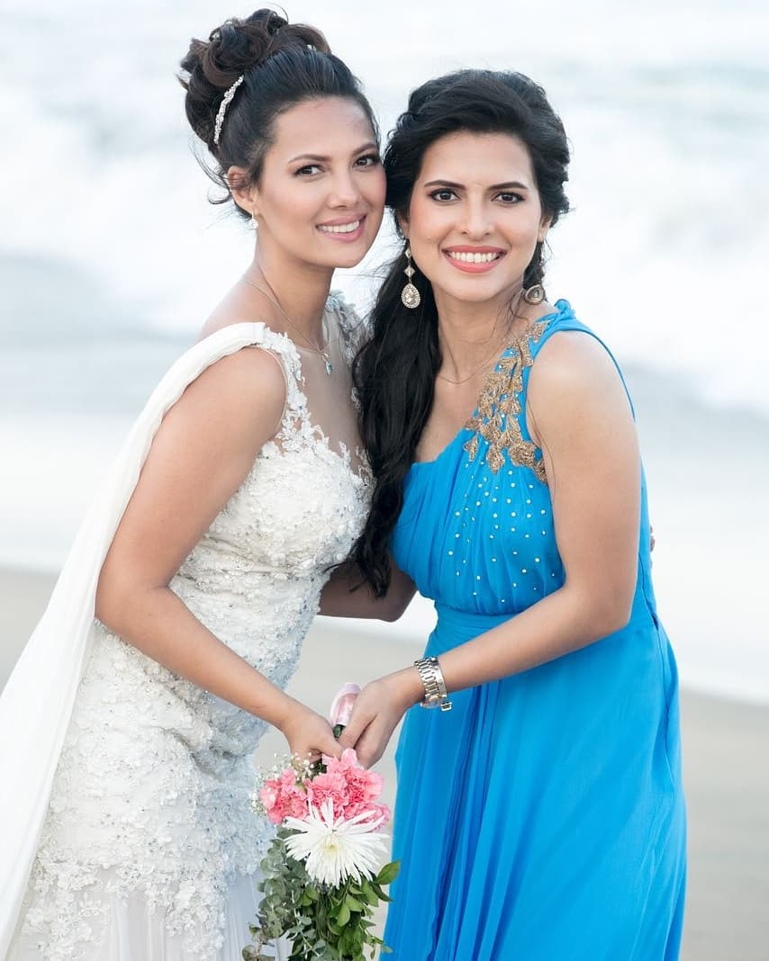 Rochelle Rao with her sister Paloma Rao