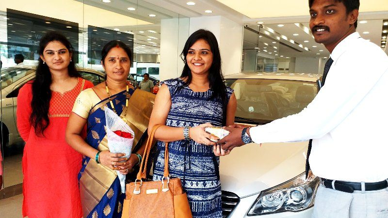 Rohini Noni Taking The Delivery Of Her Car