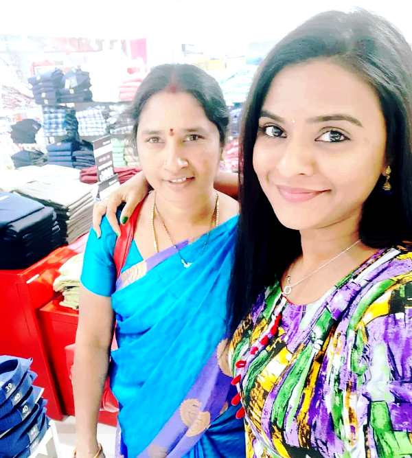 Rohini Noni With Her Mother