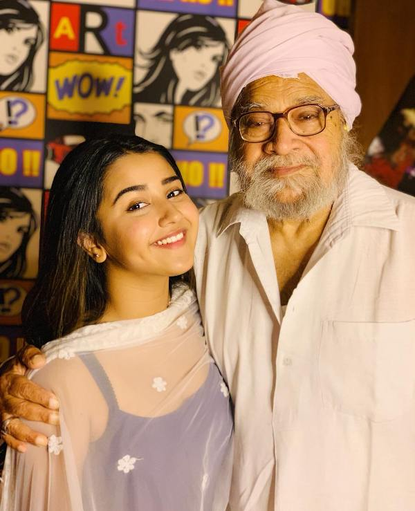 Roshni Walia with her maternal grandfather