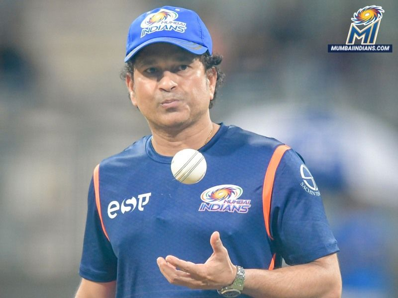 Sachin Tendulkar playing at IPL for Mumbai Indians