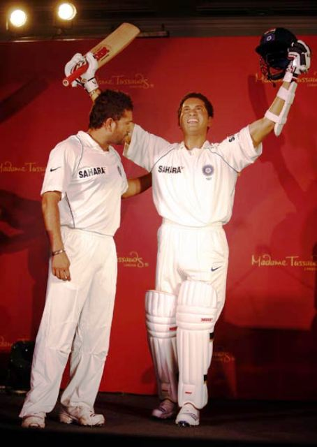 Sachin Tendulkar wax statue at Madame Tussads