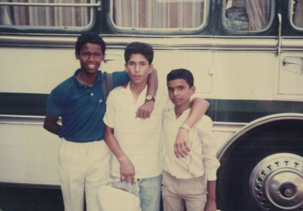 Sachin Tendulkar with Vinod Kambli in his childhood
