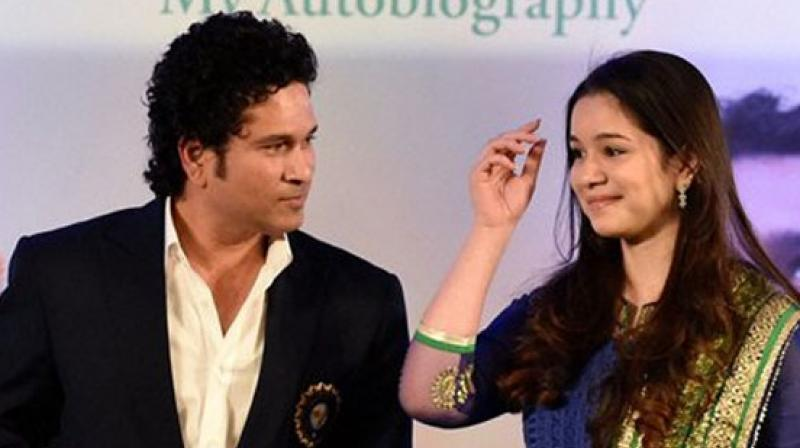 Sachin Tendulkar with his daughter