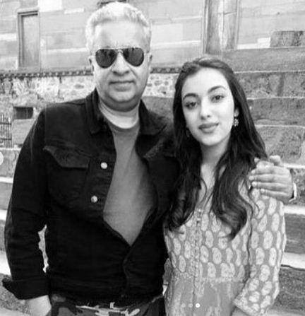Saher Bamba with her father, Sunil Bamba