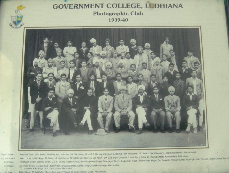 Sahir Ludhianvi In His College Photo