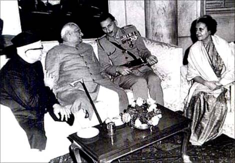 Sam Manekshaw With Cabinet Ministers