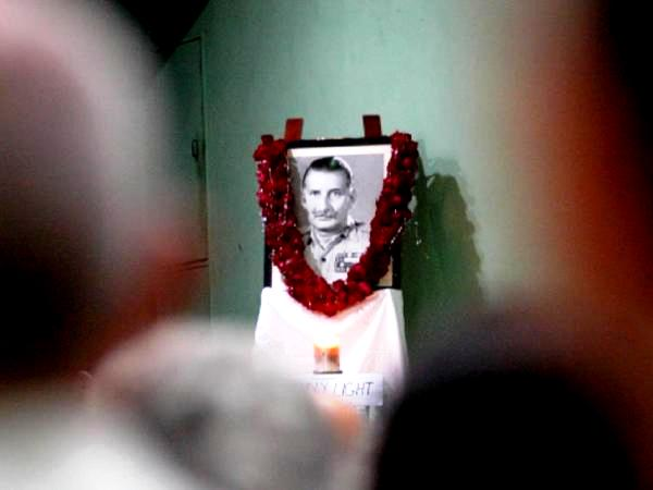Sam Manekshaw's picture at his home after his death