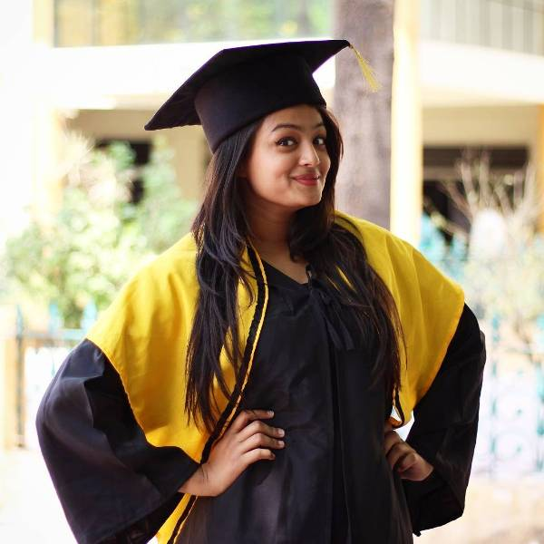 Samiksha Jaiswal on her convocation day