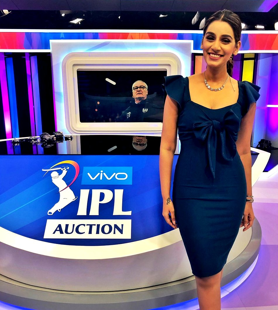 Sanjana Ganesan Presenting The IPL Auction