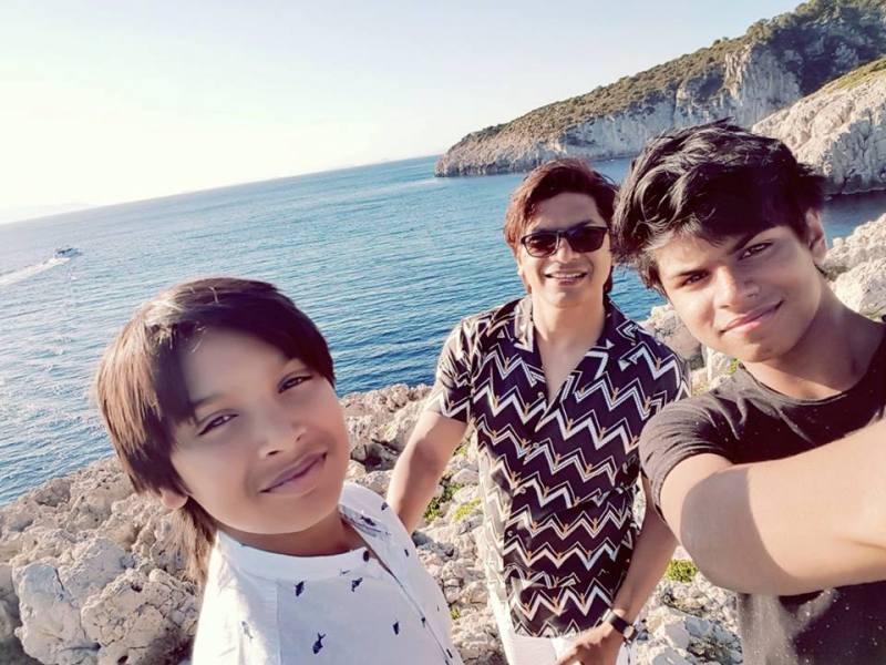 Shaan With His Sons
