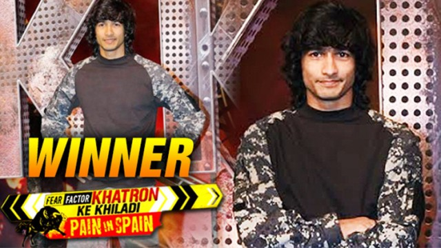 Shantanu Maheshwari as the winner of Fear Factor- Khatron Ke Khiladi