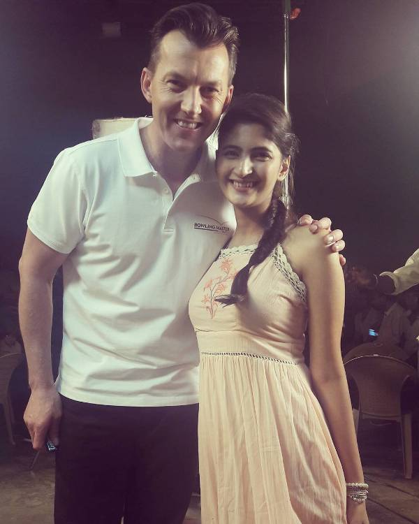 Shivani Raghuvanshi with Brett Lee