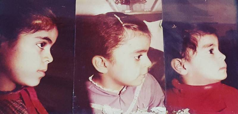 Childhood picture of Shraddha Arya
