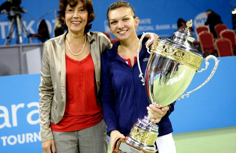 Simona Halep With Her Manager Virginia Ruzici