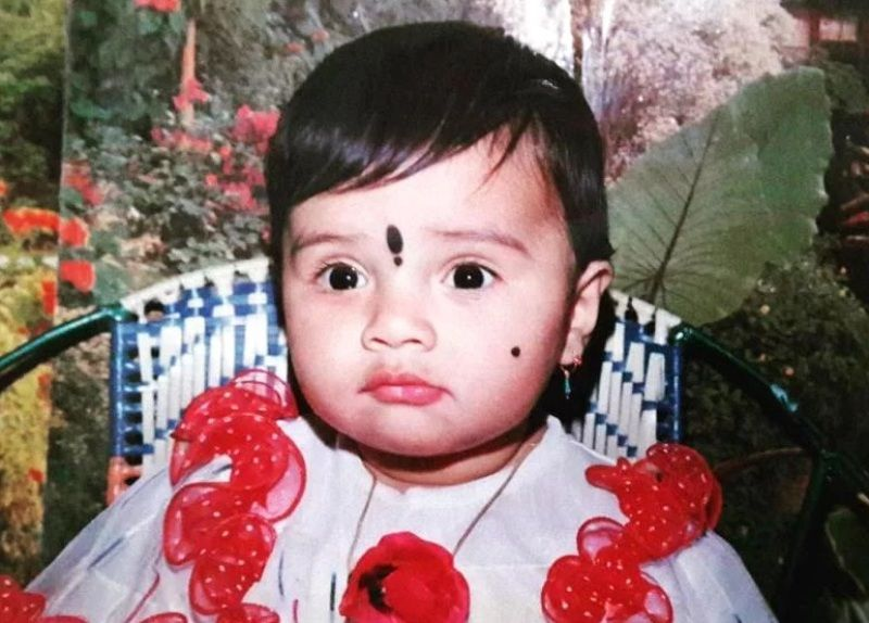 Sreemukhi As A Child