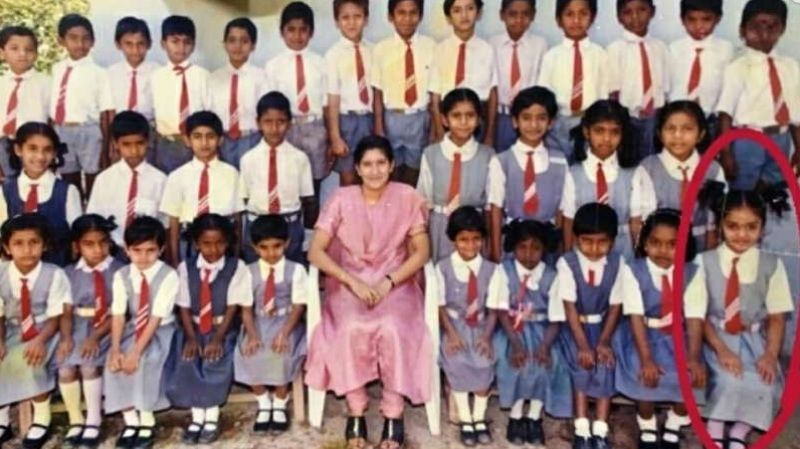 Sreemukhi In Her School Days