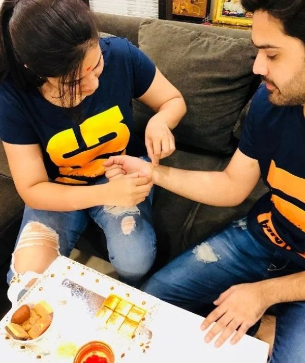Sreemukhi With Her Brother