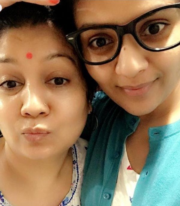 Sreemukhi With Her Mother