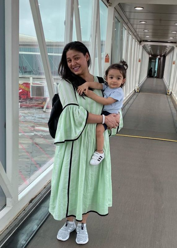 Sunidhi Chauhan and her son, Tegh Sonik