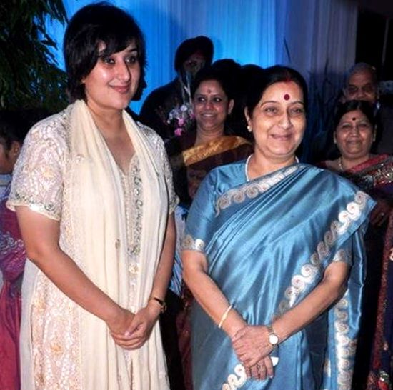 Sushma Swaraj With Her Daughter Bansuri Swaraj