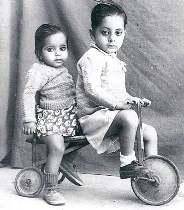 Sushma Swaraj (front) in Her Childhood