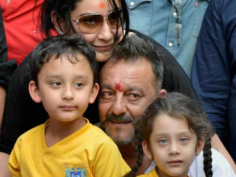 Trishala Dutt's Father Sanjay, Stepmother Manyata & Her Half Siblings Shahraan And Iqra