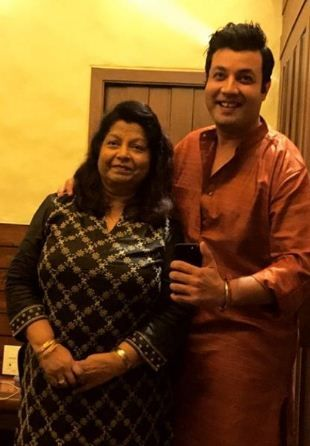 Varun Sharma with his mother