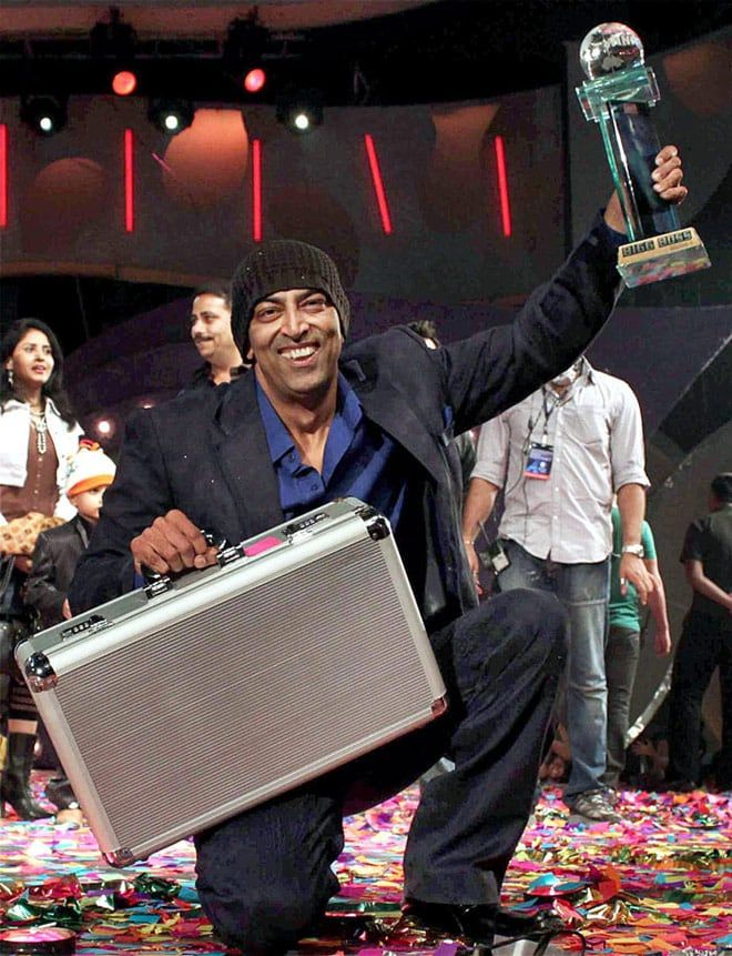 "Vindu Dara Singh after winning ""Bigg Boss 3"""