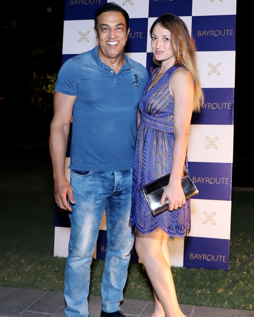 Vindu Dara Singh with Dina Umarova