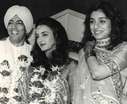 Vindu Dara Singh with Farah Naaz (ex-wife) and Tabu