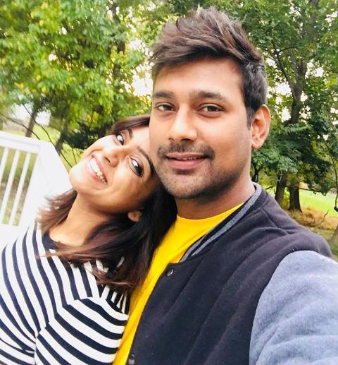 Vithika Sheru with her husband, Varun Sandesh