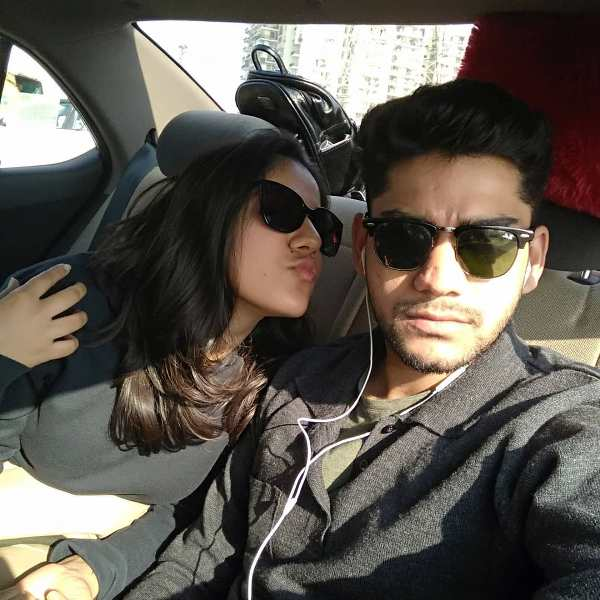 Agrita Dhawan with her Boyfriend