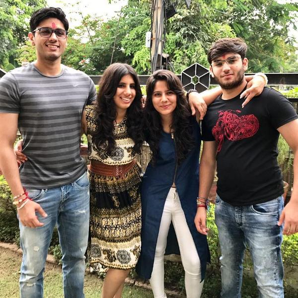 Agrita Dhawan with her siblings