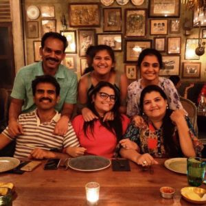 Amruta Subhash With Her Husband and Friends