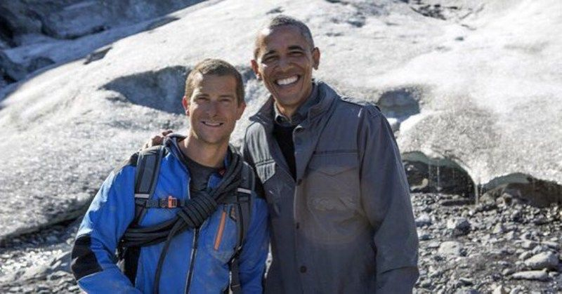 Bear Grills with Barack Obama
