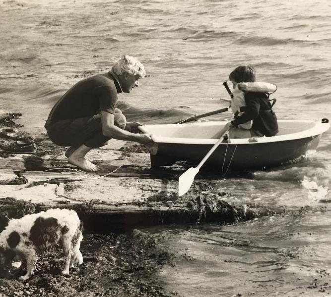 Bear Grylls Learning to Row a boat with his Father