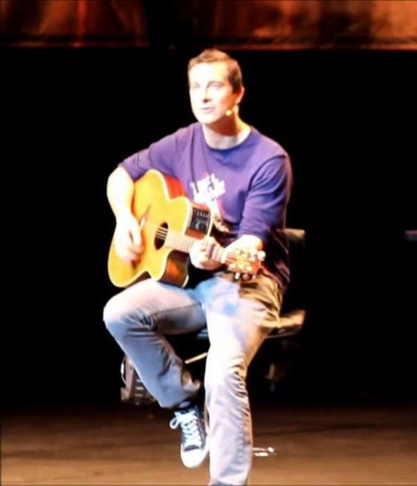 Bear Grylls Playing Guitar