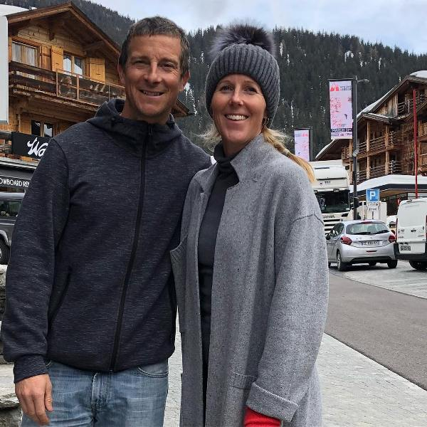 Bear Grylls With His Wife Shara