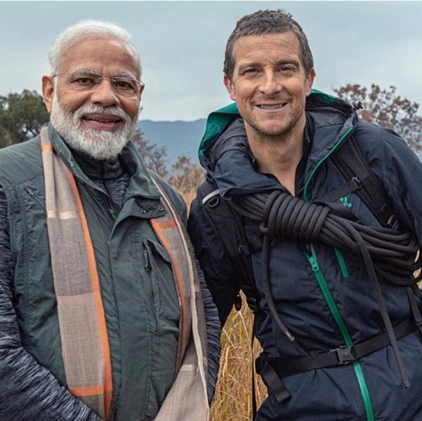 Bear Grylls with Narendra Modi