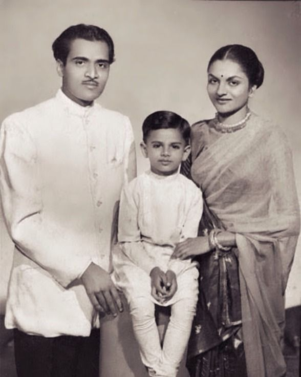 Bhupen Hazarika With Priyamvada Patel and Tej Hazarika