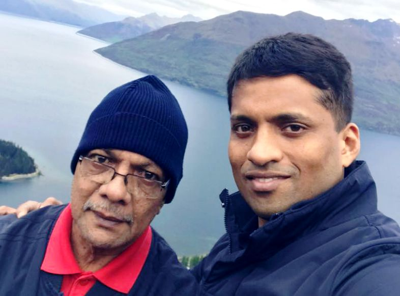 Byju Raveendran With His Father Raveendran