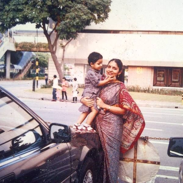 Childhood Photo of Sobhita Dhulipala with her mother