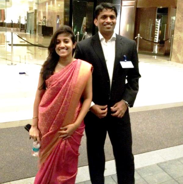 Divya Gokulnath With Her Husband Byju Raveendran